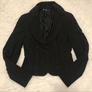 BEBE Polka Dot Blazer/Jacket